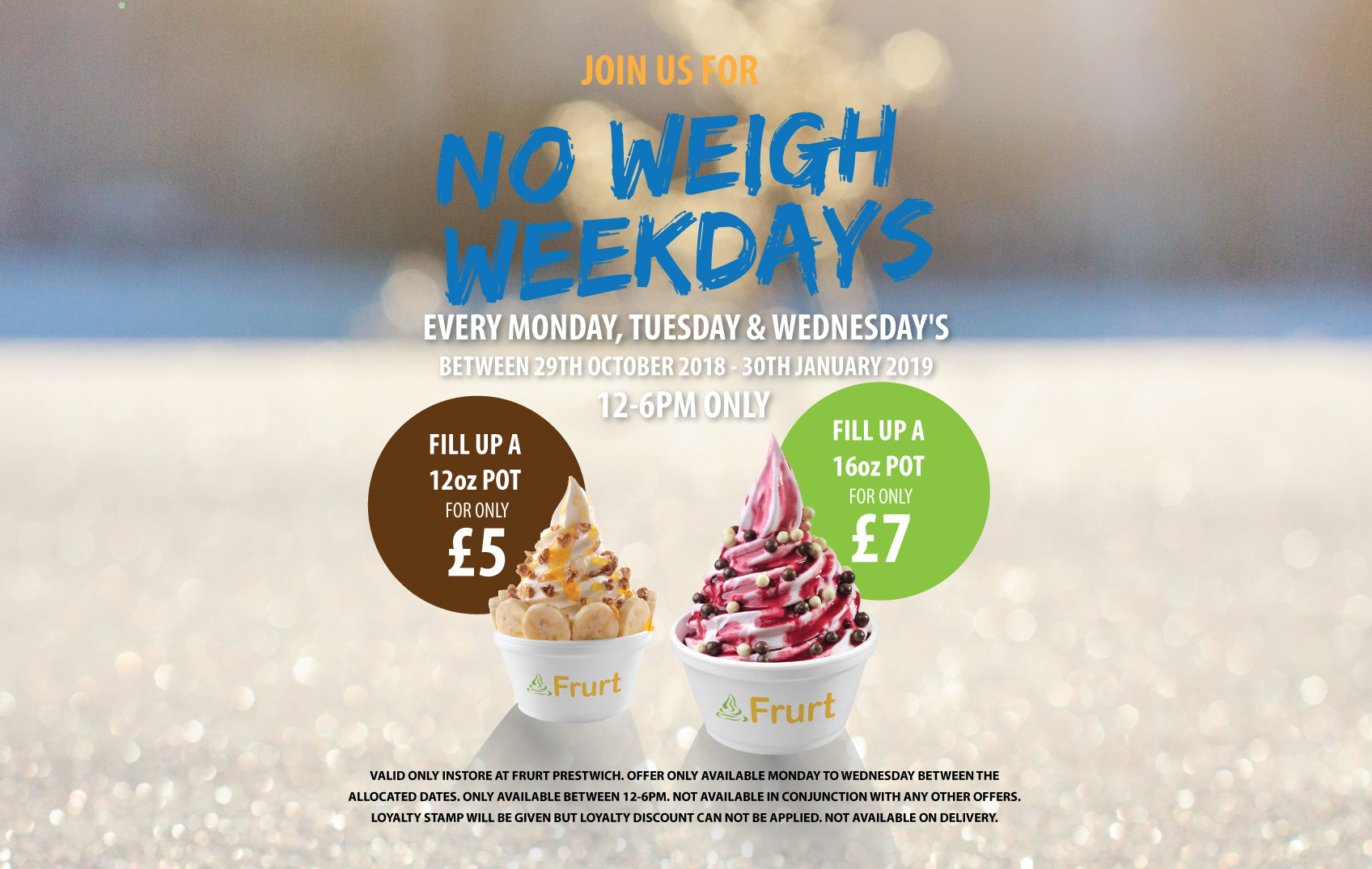Image showing a poster offer for frozen yogurt